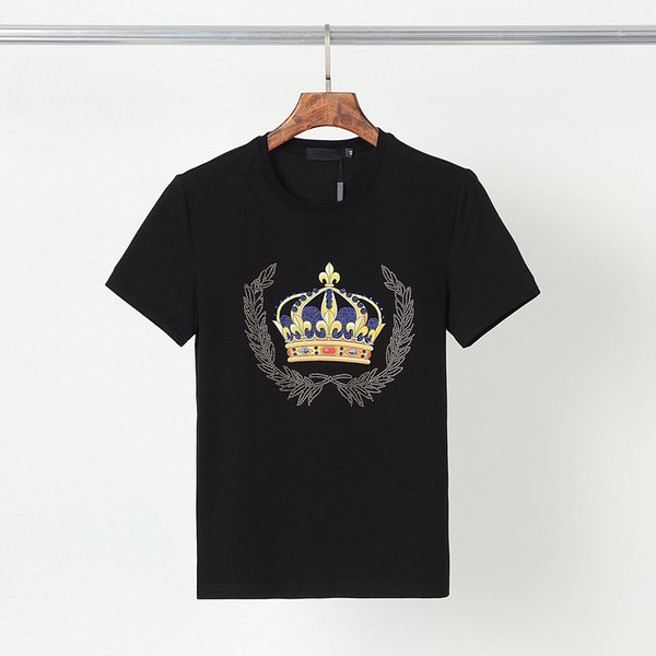 best selling 2021 Fashion Designer T-Shirt Men's Top Luxury Letter Printing Gun Rhinestone