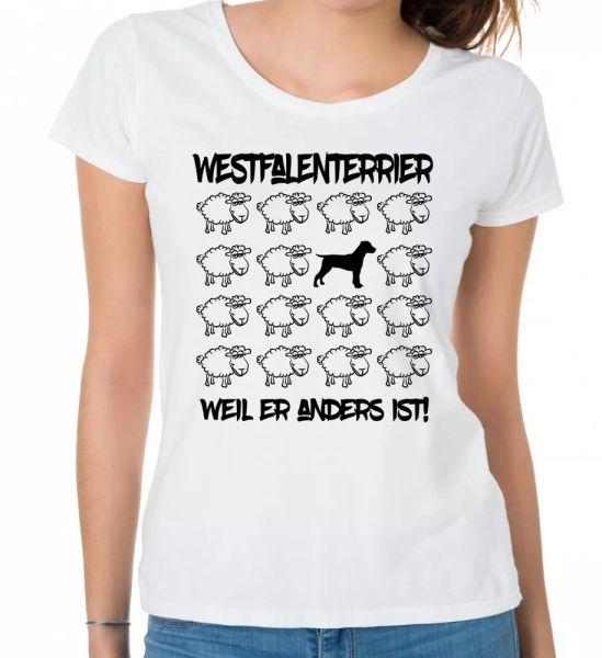 Westphalia Terrier Ladies T-Shirt Black Sheep Women Dog Dogs Fashion Terrier