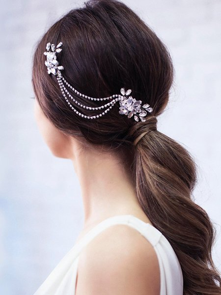 Vintage Silver Gold Rhinestone Bridal Hair Comb Banquet Prom Girls Headband Wedding Accessories for Hair Ornaments Jewelry