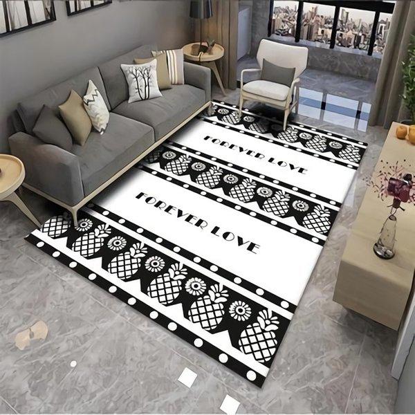 Eovna Living Room Carpet 3D Pattern Area Rug Kids Room Decoration Large Carpet Home Hallway Floor Rug Bedroom Bedside Mat