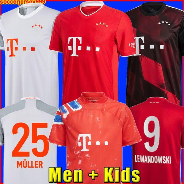 best selling BaYern soccer jersey 20 21 LEWANDOWSKI SANE muNich COMAN MULLER DAVIES football shirt Men Kids kit 2020 2021 HUMANRACE fourth 4th