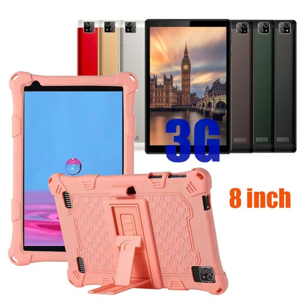 top popular 2021 3G tablet phone pc Octa Core 8 inch MTK6592 IPS capacitive touch screen dual sim android 5.1 1GB 16GB with leather case 2021