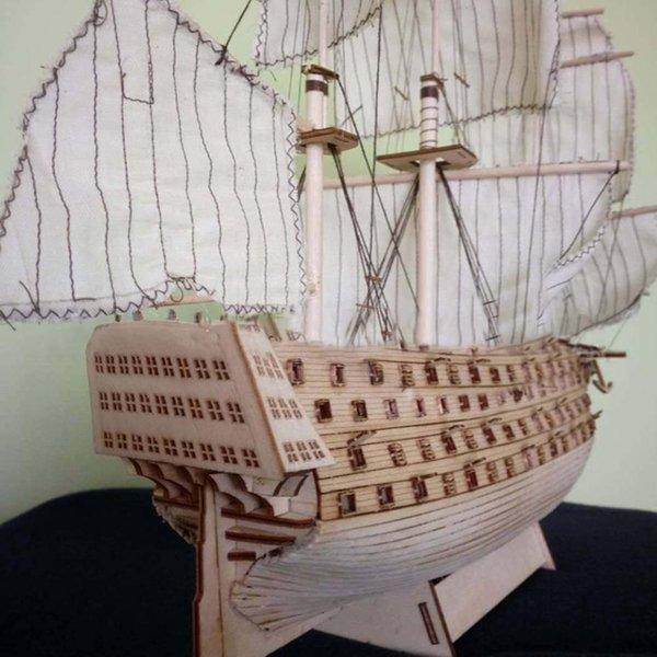 top popular Hobbylane DIY Wood Assembled Victory Royal Navy Ship Sailboat Modeling Toy Decoration Y200428 2021