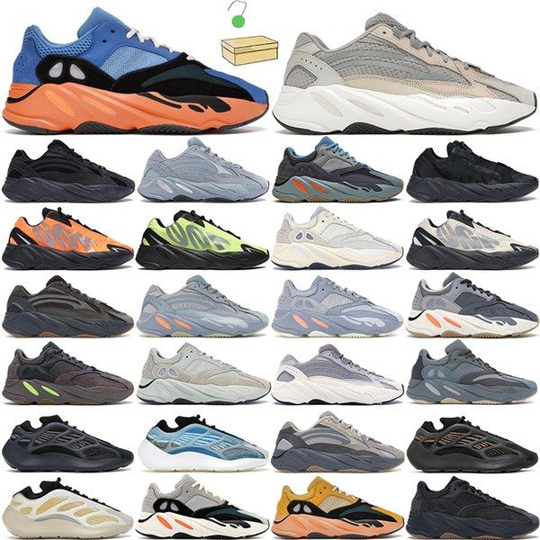 2021 kanye 700 men women running shoes trainers Safflower Azael Alvah Bright Blue Tephra Inertia Geode Utility Black Phosphor Mauve Grey Teal outdoor sports sneaker