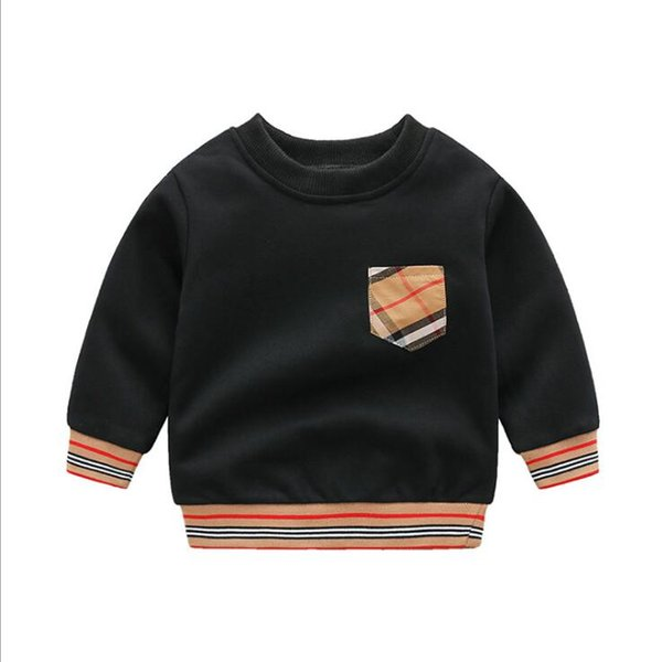 top popular Retail Baby Boys Girls Plaid Sweaters Pullover Spring Fall Kids Long Sleeve Sweatshirts Children Cotton Sweater Child Sweatshirt 2021