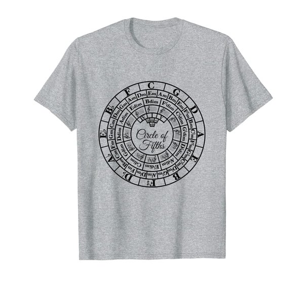 Circle of Fifths Classical Harmony Theory Chart T-Shirt