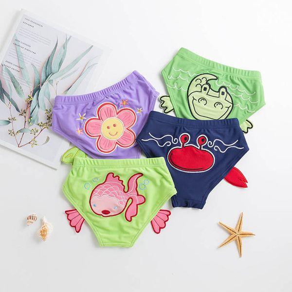 best selling Kids Board Shorts Swimwear Swim Suits Baby Swimming Boys Trunk Cartoon Flower Girls Trunks Beach Toddler Clothes Infant Wear 0-3T B4640