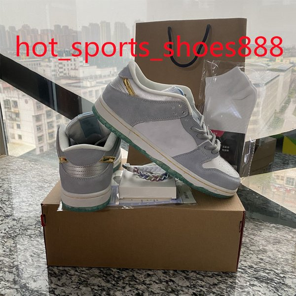 top popular Sean Cliver SB DUNK Running Shoes Travis Scotts Chunky Dunky Low Skateboard Paris Brazil Syracuse White off Kentucky Men Women Casual Sports Size 36-46 With Half 2021