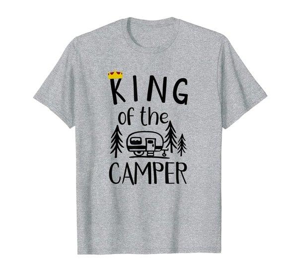 Mens Awesome King of the Camper Funny Camper TShirt Camper Gift