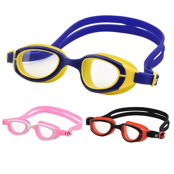 best selling Kids Swim Glasses Waterproof Eyewear Professional Transparent Pool Silicone Children Swimming Goggles for Boys Girls
