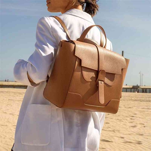 best selling Fashion Women Backpack Luxury Classic Brand Designer Style Lady Casual Vintage Maestra Large Bag 210401