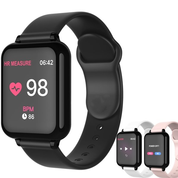 top popular B57 Smart Watch Waterproof Fitness Tracker Sport for IOS Android Phone Smartwatch Heart Rate Monitor Blood Pressure Functions A1 2021
