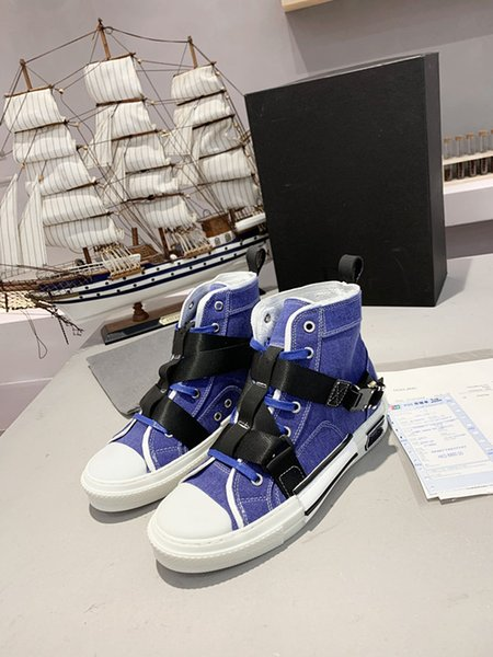 Top quality high low top oblique bee men women luxurys designers shoes fashion pairs technical leather outdoor platform casual Shoes