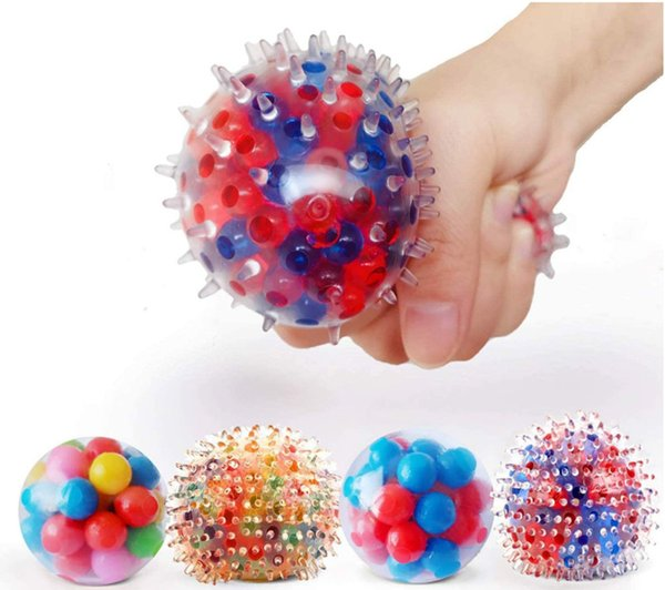 best selling Fidget DNA Squish Stress Ball Squeeze Color Sensory Toy Relieve Tension Home Travel andfree Office Use Fun for Kids Adults DHL Ship FY9409