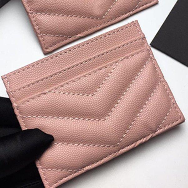 best selling Mini card holder Wallets Multiple mezzanine Classic lines excellent quality black caviar original lambskin genuine leather v Lattice credit Handbags