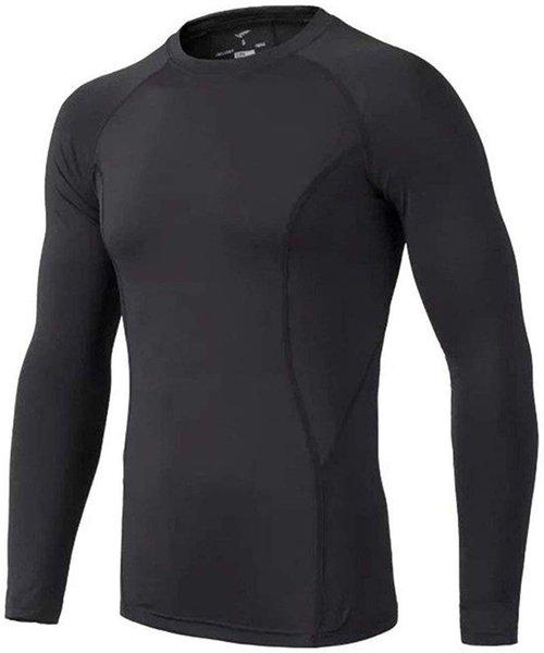 top popular Kids' Boys Long Sleeve Athletic Base Layer Compression Underwear Baseball Soccer Shirt 2021