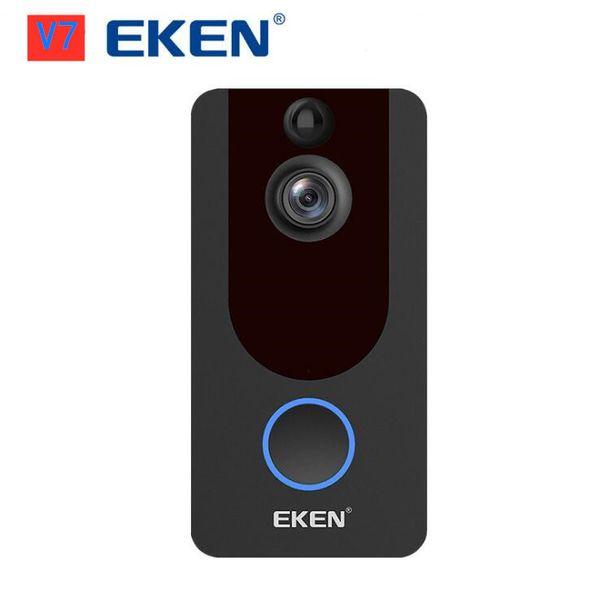 top popular EKEN V7 HD 1080P WiFi Smart Doorbell Video Camera Visual Intercom Night Vision IP Wireless Door Security 2021
