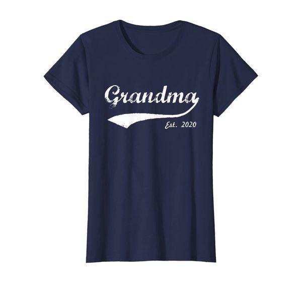 Womens New Grandma 2020 - Grandma Est. 2020 - Grandma To Be 2020 T-Shirt
