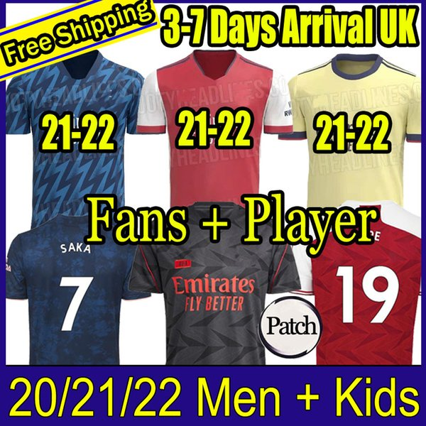 best selling Fans Player version Arsen soccer jersey 20 21 ODEGAARD PEPE SAKA NICOLAS TIERNEY HENRY WILLIAN MAITLAND-NILES 2020 2021 football shirts KidS