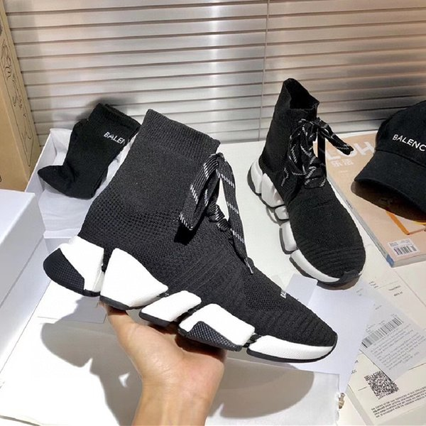 Boots 35-45 size high quality 2021 Spring and autumn products lovers flat-bottomed comfortable wear-resistant knitted breathable socks shoes