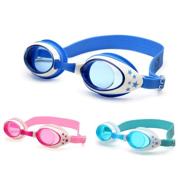 top popular Swimming Goggles Kids Professional Cartoon Boys Girls Anti Fog Pool Children Waterproof Swim Eyewear Silicone Diving glasses 2021