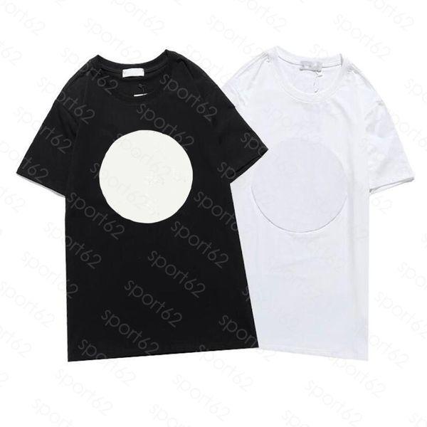 top popular mens T shirts luxur embroidery Summer short sleeve T-shirt Men women Female Tshirts black white cottn Asian size:S-XL Breathable detail 2021