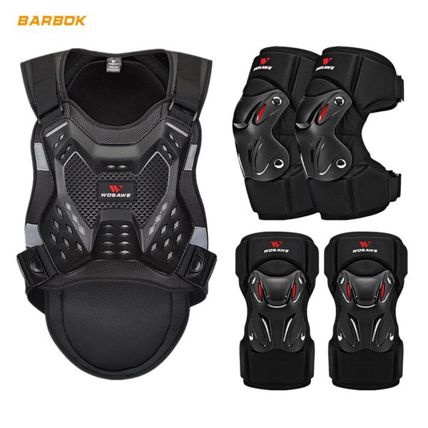 top popular WOSAWE Sports Motorcycle Armor Protector Jacket Body Support Bandage Chest Ski Back Protection Suit Motocross Protective Gear 2021