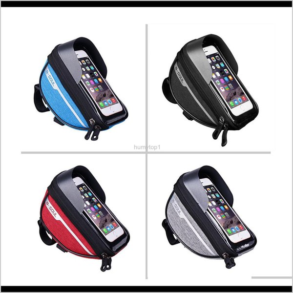 top popular Cycling Bicycle Bike Head Tube Handlebar Cell Mobile Phone Bag Case Holder Screen Phone Mount Bags Case For 6.5In 5Wauf Vxvfe 2021