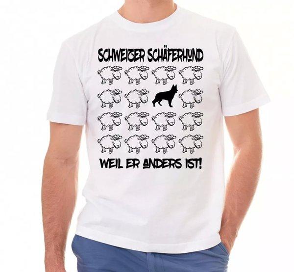 Swiss Shepherd Dog Unisex T-Shirt Black Sheep Men Dog Dog Motif