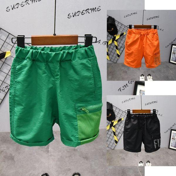 best selling Children's Summer 2021 New Korean Letter Beach Pants D1526