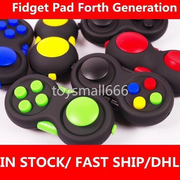 top popular Fidget Pad Hand Shank 4th Generation Game Controller Squeeze Finger Toys Kids Adult Fun ADHD Anxiety Depression Stress Relief Handle 2021