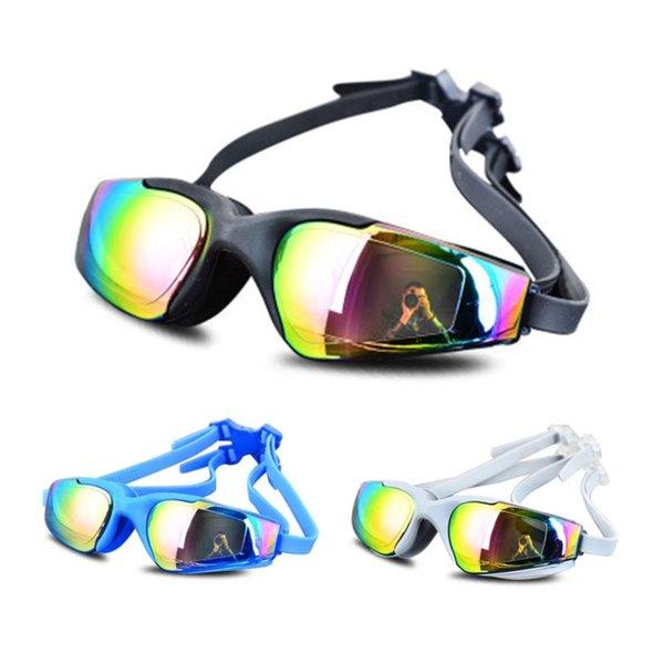 top popular Adult Swimming glasses Color Professional Anti-Fog Men Women Pool Water Diving Equipment Swim Eyewear Silicone Swimming goggles 2021