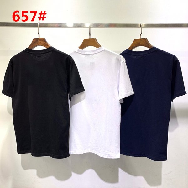 top popular #657 Brand designer Men's Reflective letters T-Shirts clothes short sleeve round neck Summer Fashion Classic clothing 3 colors M-2XL 2021
