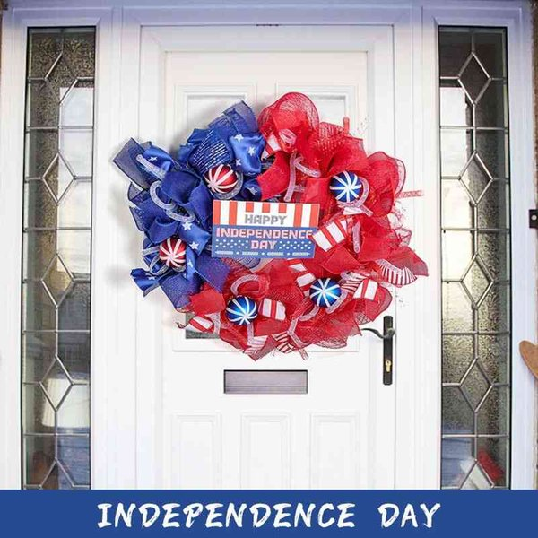 Independence Day wreath 2021 happy index day