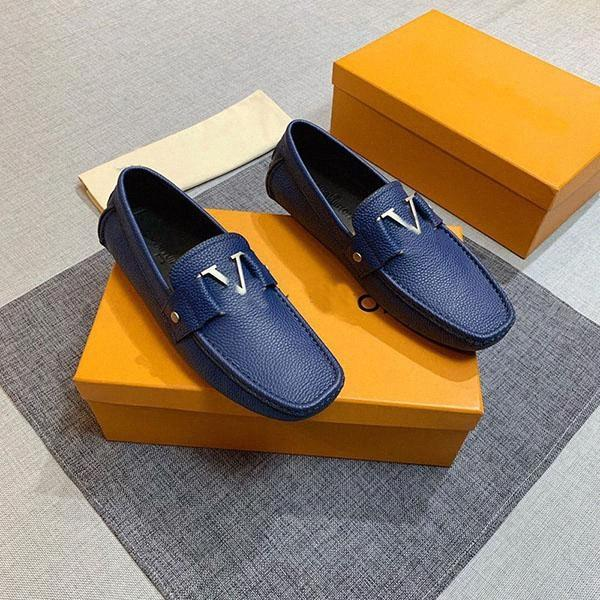 best selling High quality men's dress casual flats bottom Loafers fashion luxury metal button peas shoes classic driving for men v1zI#