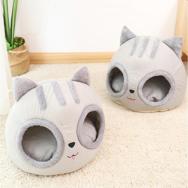Removable Cat Bed House Semi-Enclosed Pet Dog Cat Nest Kennel Deep Sleep Pad Pet House for Small Dog And Cats Pet Products