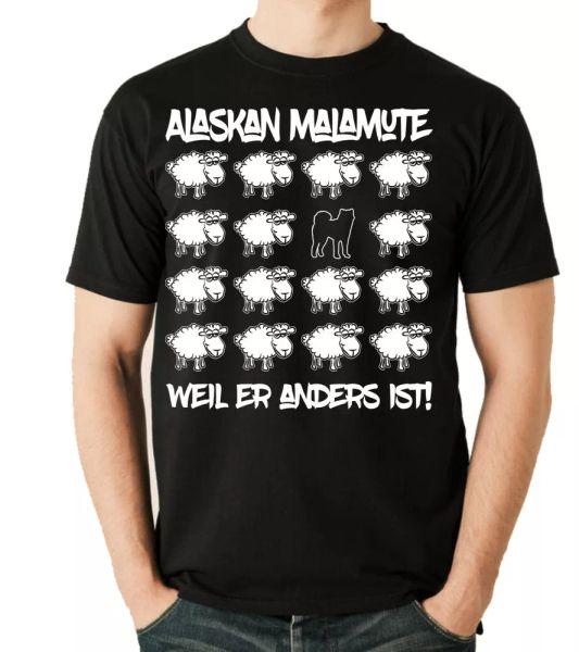 Alaskan Malamute Unisex T-Shirt Black Sheep by siviwonder Dog Motif