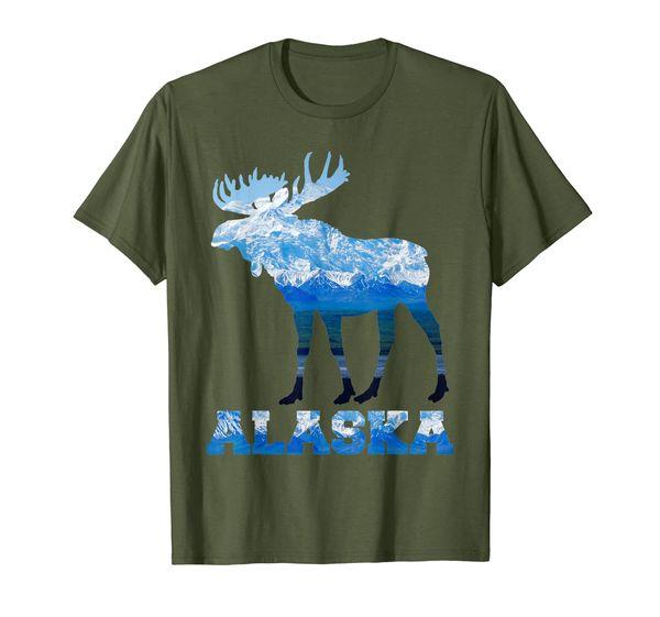 Moose Head Antlers Figure Alaska Wildlife Elk Deer Gifts T-Shirt
