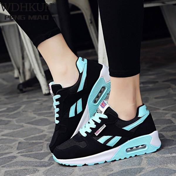 2021 New Ladies Air Cushion Sneakers Outdoor Running Lace-Up Womens Shoes Ladies Sports Shoes Tenis Feminino Casual Flat Shoes
