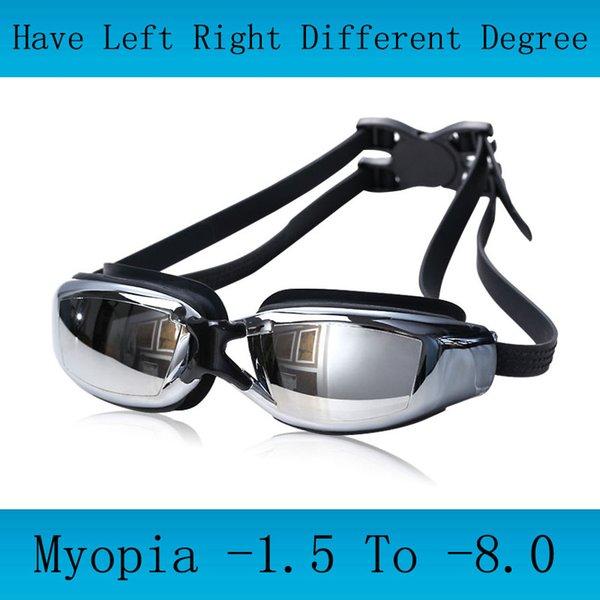 top popular Adult Professional myopia Swimming goggles men arena diopter Swim Eyewear anti fog swimming glasses natacion water glasses 2021
