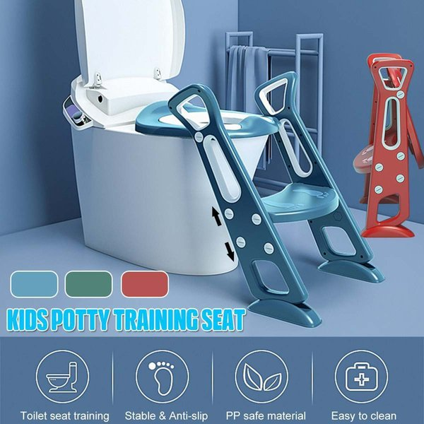 best selling Folding Baby Potty Infant Kids Toilet Training Seat With Safe Adjustable Ladder Height Portable Urinal Potty Toilet Seat For Kid LJ201110