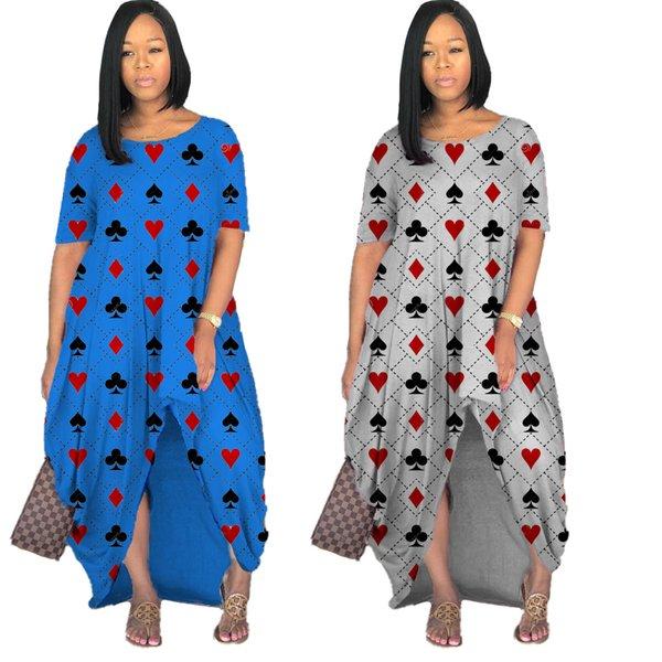 best selling 2021 New Trendy Print O-neck Maxi Dress Women's plus size sleeveless dress