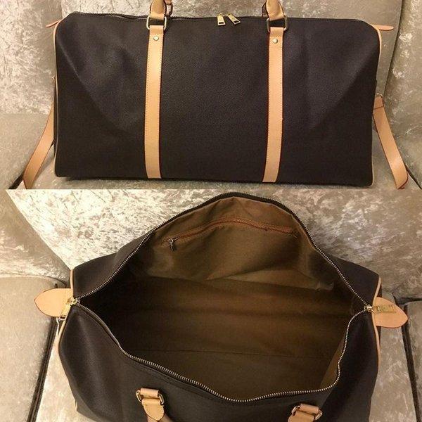 fashion mens duffle bag women travel tote bags hand Zipper luggage keepall up men pu leather handbags large cross body totes 45 50 555b00#