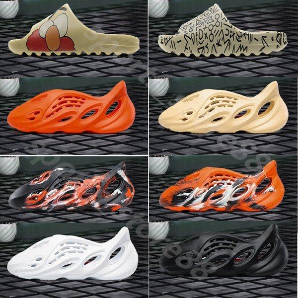 2021 Kanye west shoes 700 v3 Summer Beach slipper foam runner hole Slides Bone sandal Children shoes boy girl youth kid size 24-35 05