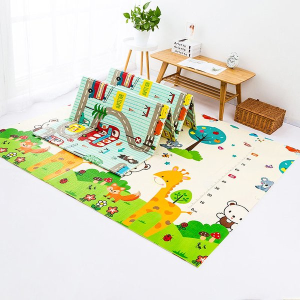 best selling Folding Children's Crawling Mat Double-sided Waterproof Room Decor Soft Floor Foam Nursery Rug Carpet Foldable Baby Play Mat