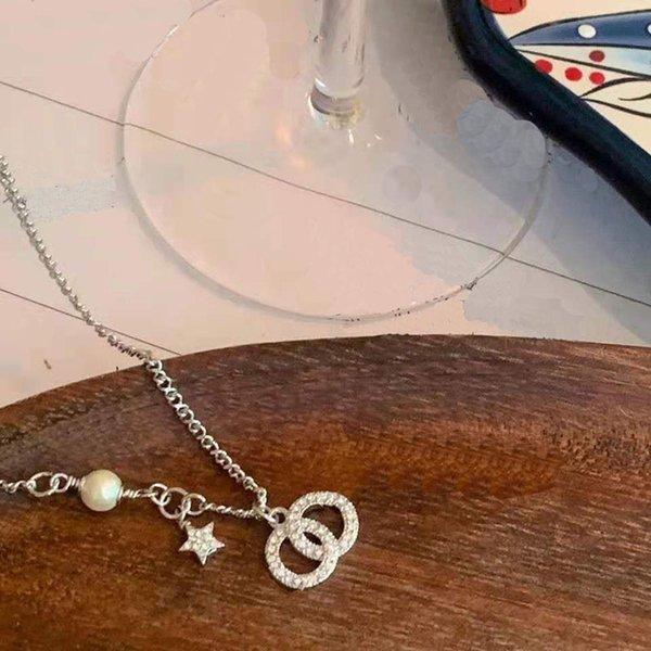top popular luxurys designers pendant necklace luxury woman's jewely Double circle Logo three color gift classic Necklaces good nice 2021