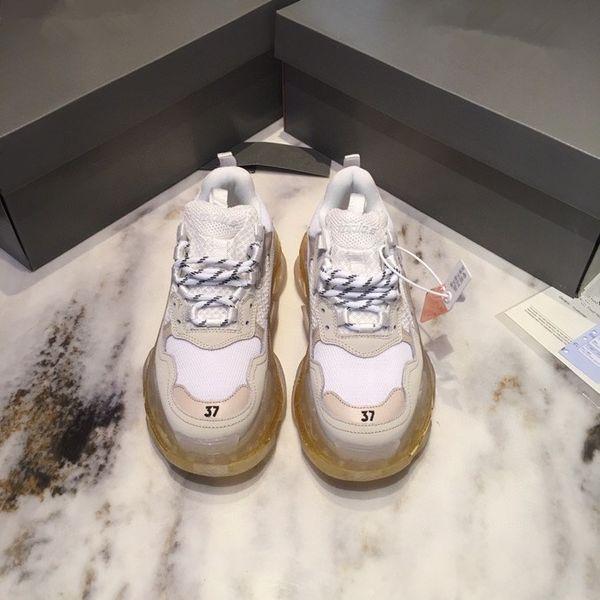 2021 Paris Crystal Bottom Triple S Casual Shoes Dad Shoes Platform Triple S Sneakers Men Women Vintage Kanye Old Grandpa Trainer Shoes