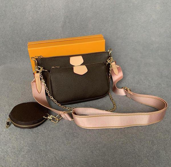 top popular Top quality woman luxurys designers crossbody bags wallet backpack handbags purses card holder bag shoulder tote mini 3-piece set 2021