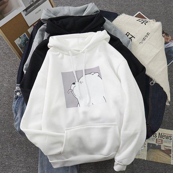 Hoodies oversized print Kangaroo Pocket Sweatshirts Hooded Harajuku winter Casual Vintage Korean Pullovers Women sweatshirts