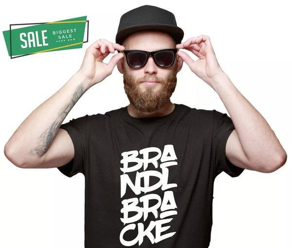 SALE brandlbracke font lettering Unisex Funny T-Shirt L Race Dog Modern